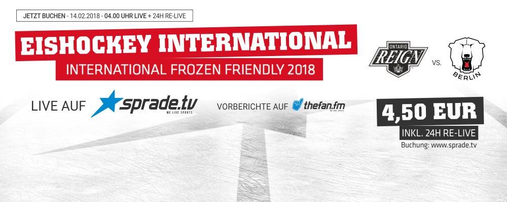 Frozen Friendly live und direkt auf SpradeTV